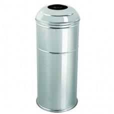Корзина для мусора большая нержавеющая сталь матовая Efor Metal 446BM