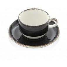 Чашка с блюдцем Onyx 90 мл Fine Dine 775097