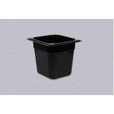 Гастроемкость GN 1/6 150 мм из черного поликарбоната Gastroplast 16150Bl