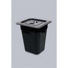 Гастроемкость GN 1/9 150 мм из черного поликарбоната Gastroplast 19150Bl