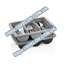 Контейнер для столовых приборов (3 отделения) серый Gastroplast 03CBGr