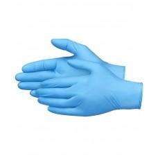 Нитриловые перчатки голубые размер L 100 шт. HENDI 570982