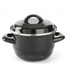 Кастрюля для супов и соусов - черная 0,6 л Hendi 625705