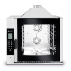 Пароконвектомат Touch control 7x GN 1/1 газовый, электронное управление HENDI 224700