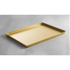 Поднос кондитерский золотой, 300x200x(H)20 мм HENDI 808559