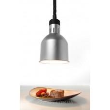 Цилиндрическая лампа для подогрева блюд с регулируемой высотой серебрянная HENDI 273883