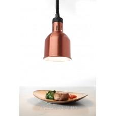 Цилиндрическая лампа для подогрева блюд с регулируемой высотой медная HENDI 273890
