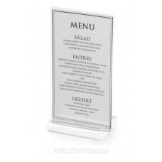 Подставка под меню 80x72x(H)20 - прозрачная HENDI 663769
