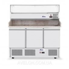 Стол холодильный для пиццы с надставкой и гранитной столешницей HENDI 232033