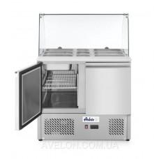 Стол холодильный саладетта со стеклянной витриной HENDI 232781
