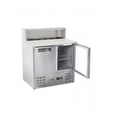 Стол холодильный 2-дверный с надставкой и гранитной столешницей HENDI 236208