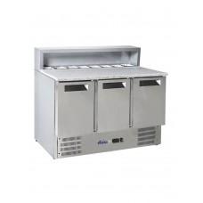 Стол холодильный 3-дверный с надставкой и гранитной столешницей HENDI 236215
