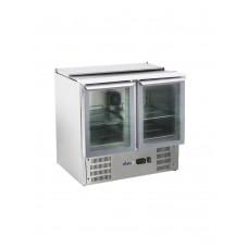 Стол холодильный 2-дверный застекленный с откидной крышкой HENDI 236246