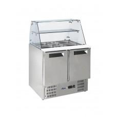 Стол холодильный саладетта 2-дверный с надставкой стеклянной HENDI 236185