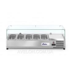 Витрина холодильная 5xGN 1/4 надставка HENDI 232903