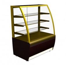 Кондитерская витрина холодильная ВХСв-0,9 д Carboma Люкс (стеклопакет)