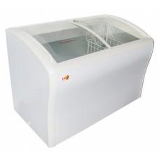Ларь морозильный  CF378SС EWT INOX с гнутым стеклом