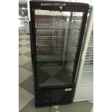 Настольный холодильный  шкаф FROSTY RT98L-3 black (наружный обдув)