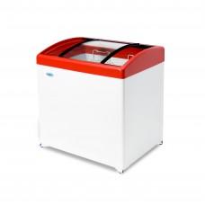 Ларь морозильный MЛГ 250 СНЕЖ гнутое стекло