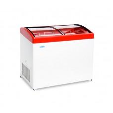Ларь морозильный MЛГ 350 СНЕЖ гнутое стекло