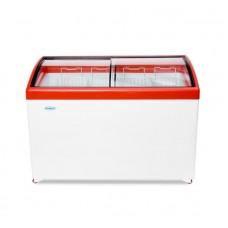 Ларь морозильный MЛГ 400 СНЕЖ гнутое стекло