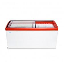 Ларь морозильный MЛГ 600 СНЕЖ гнутое стекло