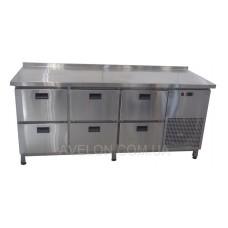 Стол холодильный 6 ящиков 1860*700*850 Tehma 11933