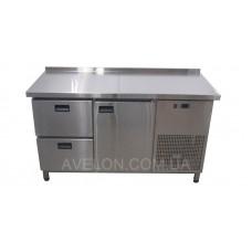 Холодильный стол 1 дверь + 2 ящика Tehma 1400х600х850 9385