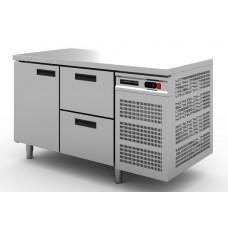 Стол холодильный Modern-Expo NRABBA - без борта, одна дверь, два ящика