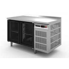 Стол холодильный Modern-Expo NRABGB с бортом, две стеклянные двери