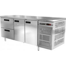 Стол холодильный Modern-Expo NRACBA без борта, две двери и два ящика