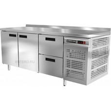 Стол холодильный Modern-Expo NRACBB с бортом, две двери и два ящика