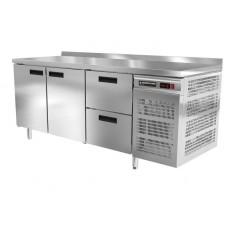Стол холодильный Modern-Expo NRAGBB с бортом, две двери, два ящика