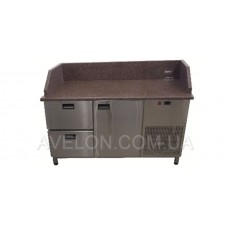 Стол холодильный с гранитной столешницей Tehma 14742 1400х700х850