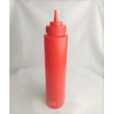 Бутылка для соусов с мерной шкалой 950 мл. красная LBSD32R