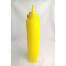 Бутылка для соусов с мерной шкалой 950 мл. желтая LBSD32Y