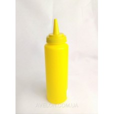 Бутылка для соусов с мерной шкалой 240 мл. желтая LBSD8Y