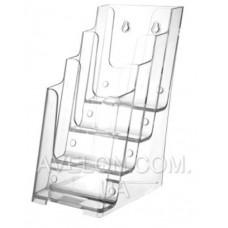 Подставка на 4 отделения акрил (прозрачная) (20*11.5*16.5см) JD-811