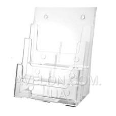 Подставка на 3 отделения акрил (прозрачная) (32*24*15см) JD-803