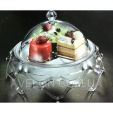 Подставка для торта с крышкой 4021-XL
