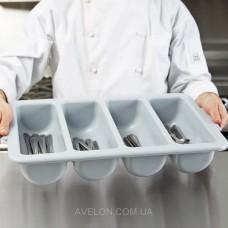Лоток для столовых приборов (серый) 4088G