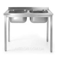 Стол с двумя моечными ваннами HENDI 811580
