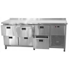 Стол холодильный 6 ящиков 1860*600*850 Tehma СХ6Я
