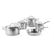 Набор кастрюль Hendi 839232 - 4 кастрюли с крышками и сковорода