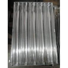 Лист багетный 400x600 алюминиевый, 5 волн