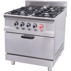 Плита газовая с духовкой Pimak М015-4 с газовым контроллером