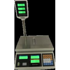 Весы торговые электронные ВТД-ЕД-ЖК Днепровес до 3 кг.