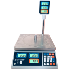 Весы торговые со стойкой ВТД-Т2-ЖК до 30 кг Днепровес