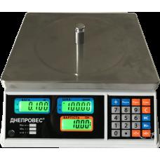 Весы торговые ВТД-Т1-ЖК до 30 кг Днепровес без стойки