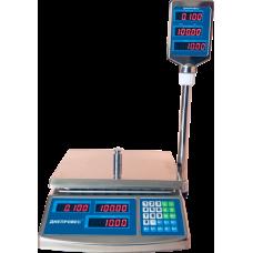 Весы торговые электронные ВТД-ЕЛС Днепровес до 3 кг.